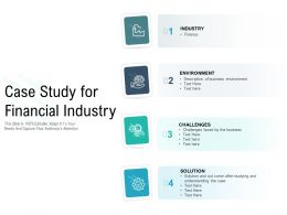 Case Study For Financial Industry
