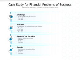 Case Study For Financial Problems Of Business