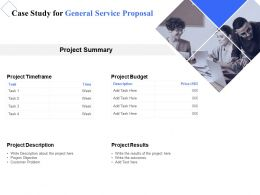 Case Study For General Service Proposal Ppt Powerpoint Presentation Inspiration Smartart