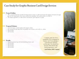 Case Study For Graphic Business Card Design Services Ppt Outline