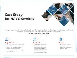 Case Study For HAVC Services Ppt Powerpoint Presentation Infographic Template