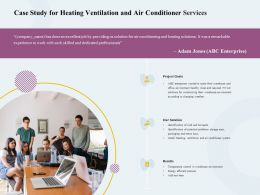 Case Study For Heating Ventilation And Air Conditioner Services Ppt File Elements