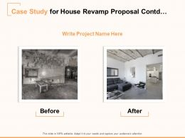 Case Study For House Revamp Proposal Before Ppt Powerpoint Presentation Model Graphics