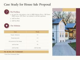 Case Study For House Sale Proposal Ppt Powerpoint Presentation Summary Skills