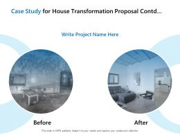 Case Study For House Transformation Proposal Contd Marketing Ppt Tutorials