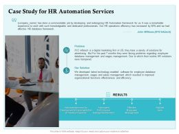 Case Study For HR Automation Services Ppt Powerpoint Presentation Portfolio Layout Ideas