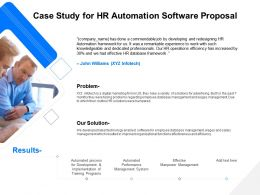Case Study For HR Automation Software Proposal Ppt File Format Ideas