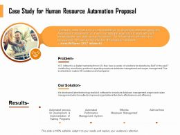 Case Study For Human Resource Automation Proposal Ppt File Format Ideas