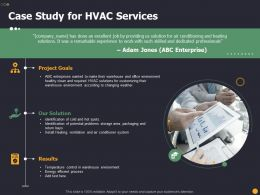 Case Study For HVAC Services Ppt Powerpoint Presentation Gallery Model