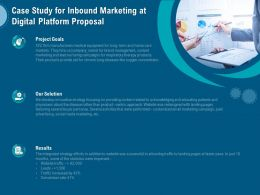 Case Study For Inbound Marketing At Digital Platform Proposal Ppt Model Example