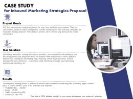 Case Study For Inbound Marketing Strategies Proposal Ppt Powerpoint Tips