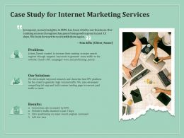 Case Study For Internet Marketing Services Ppt Powerpoint Icon Graphics