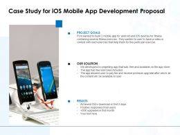 Case Study For IOS Mobile App Development Proposal Ppt Model Pictures