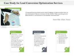 Case Study For Lead Conversion Optimization Services Ppt Clipart