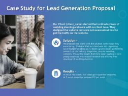 Case Study For Lead Generation Proposal Ppt Powerpoint Presentation Show