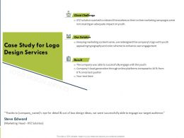 Case Study For Logo Design Services Ppt Powerpoint Presentation File Formats