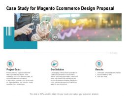 Case Study For Magento Ecommerce Design Proposal Ppt Powerpoint Presentation Outline