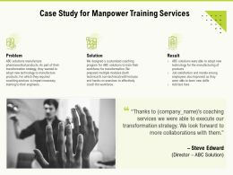 Case Study For Manpower Training Services Ppt Powerpoint Presentation Inspiration Show