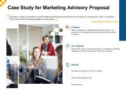 Case Study For Marketing Advisory Proposal Ppt Powerpoint Presentation Slides