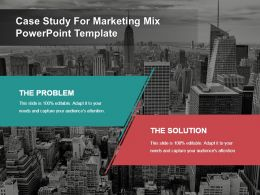 Case Study For Marketing Mix Powerpoint Template