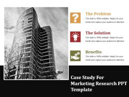 Case Study For Marketing Research Ppt Template