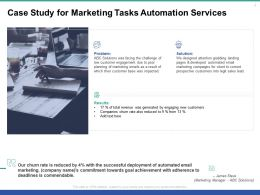 Case Study For Marketing Tasks Automation Services Ppt Powerpoint Presentation Ideas