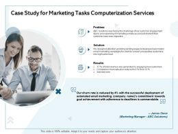 Case Study For Marketing Tasks Computerization Services Poor Planning Ppt Powerpoint Presentation Tips