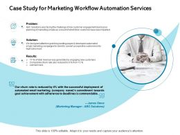 Case Study For Marketing Workflow Automation Services Problem Ppt Powerpoint Presentation Templates