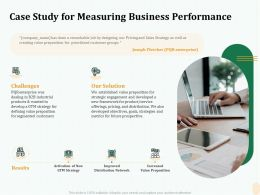 Case Study For Measuring Business Performance Ppt File Display