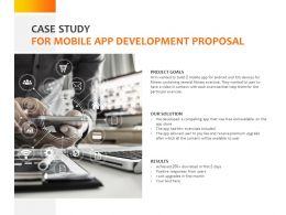 Case Study For Mobile App Development Proposal C1071 Ppt Powerpoint Presentation