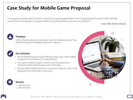 Case Study For Mobile Game Proposal Phenomenal Success Ppt Powerpoint Presentation Templates