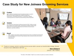 Case Study For New Joinees Grooming Services Ppt Powerpoint Presentation Layout