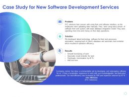 Case Study For New Software Development Services Operation Efficiency Ppt Presentation Guide