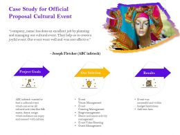 Case Study For Official Proposal Cultural Event Ppt Powerpoint Presentation Icon