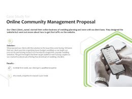 Case Study For Online Community Management Proposal Enquiries Ppt Powerpoint Slides