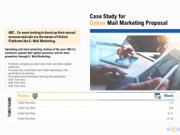 Case Study For Online Mail Marketing Proposal Technology Ppt Powerpoint Slides