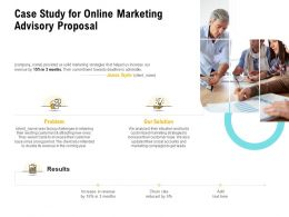Case Study For Online Marketing Advisory Proposal Ppt Powerpoint Background