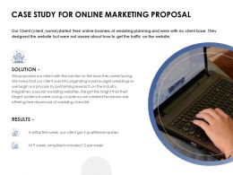 Case Study For Online Marketing Proposal Solution Ppt Powerpoint Slides