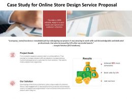 Case Study For Online Store Design Service Proposal Ppt Powerpoint Show