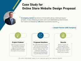 Case Study For Online Store Website Design Proposal Ppt File Aids