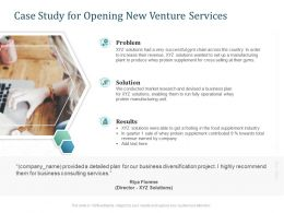 Case Study For Opening New Venture Services Ppt Powerpoint Presentation Templates