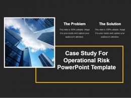 Case Study For Operational Risk Powerpoint Template