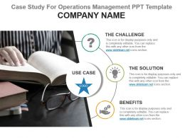 Case Study For Operations Management Ppt Template