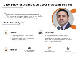 Case Study For Organization Cyber Protection Services Ppt Powerpoint Presentation Icon