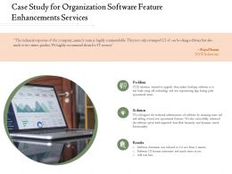 Case Study For Organization Software Feature Enhancements Services Ppt Powerpoint Tips