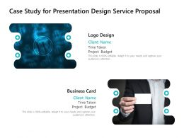 Case Study For Presentation Design Service Proposal Ppt Powerpoint
