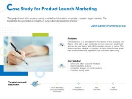 Case Study For Product Launch Marketing Ppt Gallery