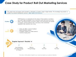 Case Study For Product Roll Out Marketing Services Ppt Powerpoint Clipart