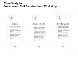 Case Study For Professional Skill Development Workshop Awesome Diagram Ppt Powerpoint Presentation Grid
