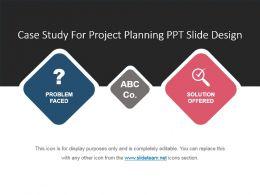 Case Study For Project Planning Ppt Slide Design